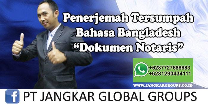 Penerjemah tersumpah bahasa bangladesh Dokumen Notaris