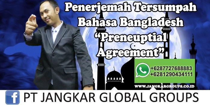 Penerjemah tersumpah bahasa bangladesh preneuptial agreement