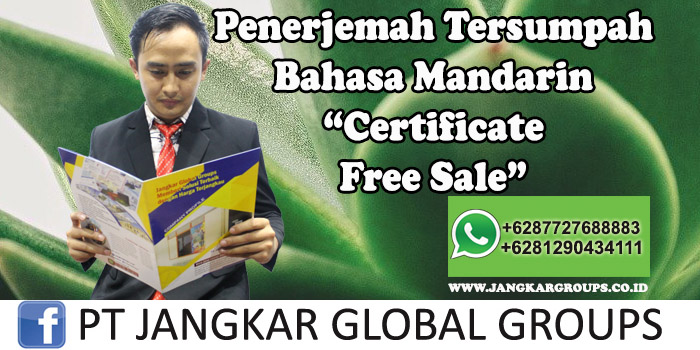 Penerjemah tersumpah bahasa mandarin certificate free sales