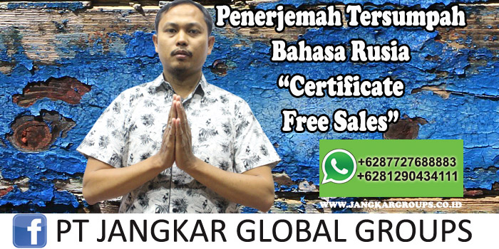 Penerjemah tersumpah bahasa rusia certificate free sales