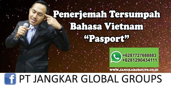 Penerjemah tersumpah bahasa vietnam pasport