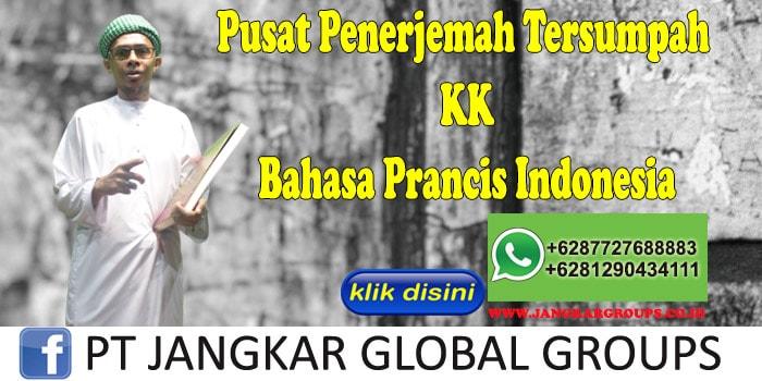 Pusat Penerjemah Tersumpah KK Bahasa Prancis Indonesia