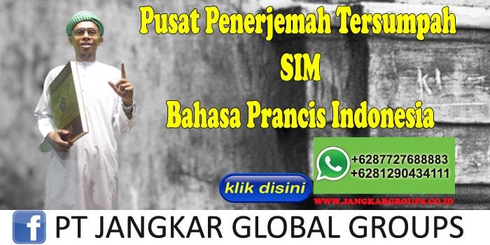 Pusat Penerjemah Tersumpah SIM Bahasa Prancis Indonesia