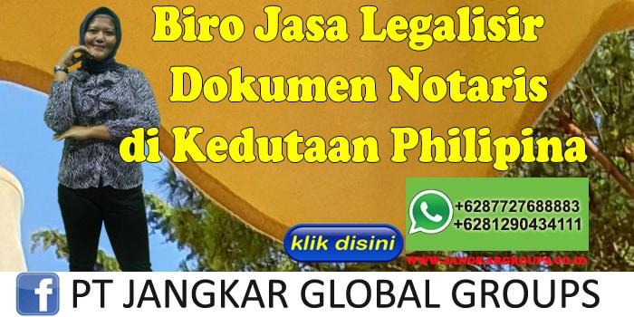 Biro Jasa Legalisir Dokumen notaris di Kedutaan Philipina