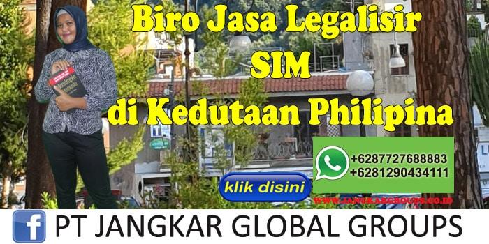 Biro Jasa Legalisir SIM di Kedutaan Philipina