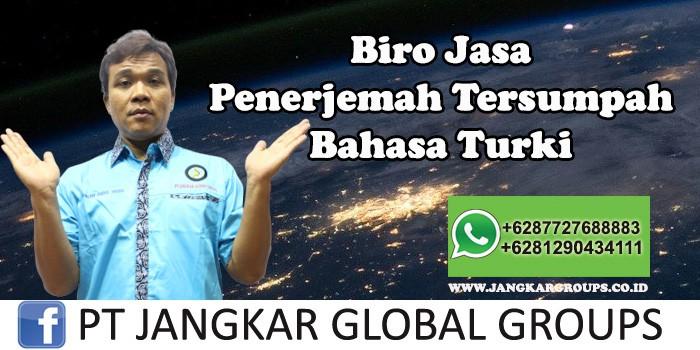 Biro Jasa Penerjemah Tersumpah Bahasa Turki