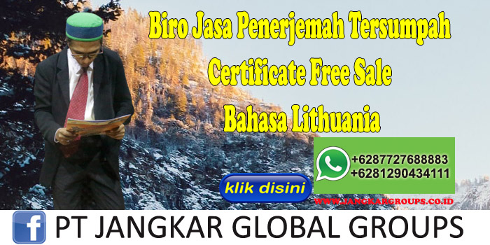 Biro Jasa Penerjemah Tersumpah Certificate Free Sale Bahasa Lithuania