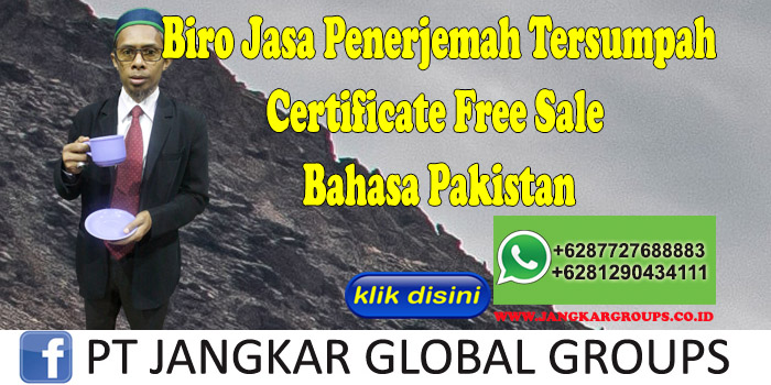 Biro Jasa Penerjemah Tersumpah Certificate Free Sale Bahasa Pakistan