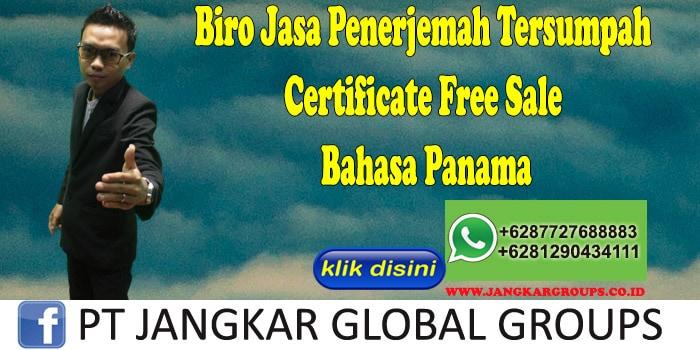 Biro Jasa Penerjemah Tersumpah Certificate Free Sale Bahasa Panama