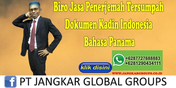 Biro Jasa Penerjemah Tersumpah Dokumen Kadin Indonesia Bahasa Panama