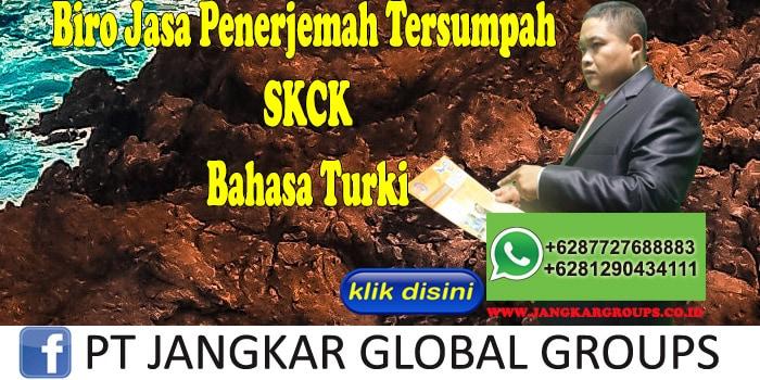 Biro Jasa Penerjemah Tersumpah SKCK Bahasa Turki