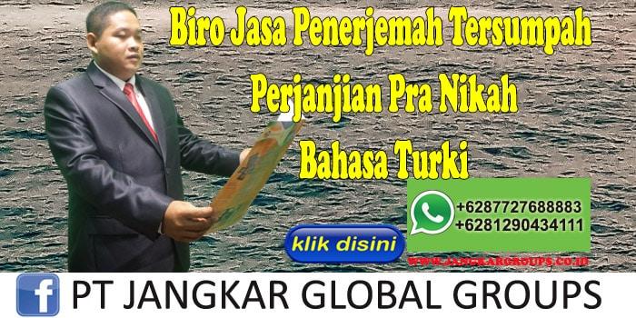 Biro Jasa Penerjemah Tersumpah perjanjian pra nikah Bahasa Turki