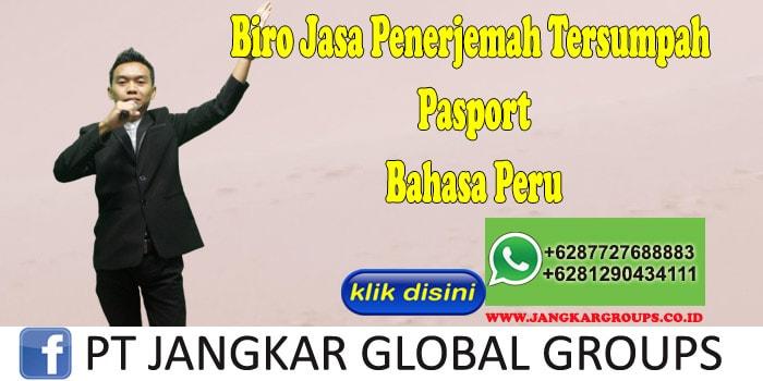 Biro Jasa penerjemah tersumpah Pasport Bahasa Peru
