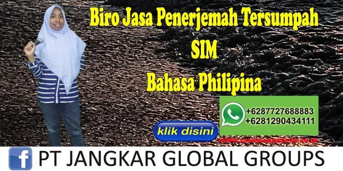 Biro Jasa penerjemah tersumpah SIM Bahasa Philipina