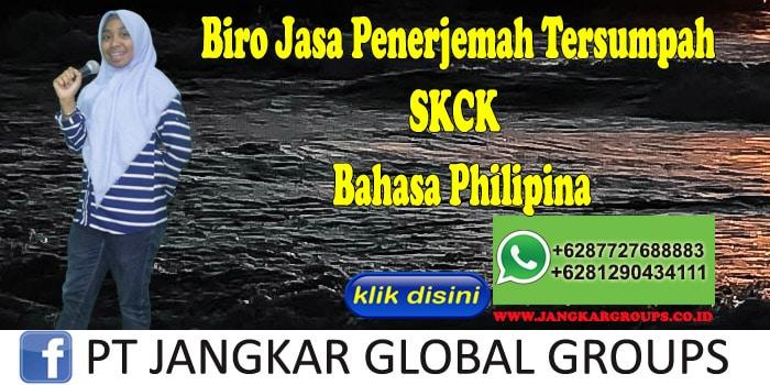 Biro Jasa penerjemah tersumpah SKCK Bahasa Philipina