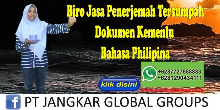 Biro jasa penerjemah tersumpah Dokumen Kemenlu Bahasa Philipina