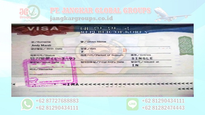 Jasa Pembuatan Visa Korea Selatan