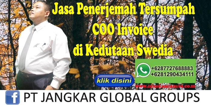 Jasa Penerjemah COO Invoce di kedutaan swedia