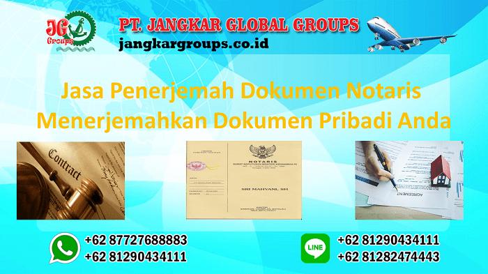 Jasa Penerjemah Dokumen Notaris Menerjemahkan Dokumen Pribadi Anda