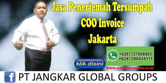 Jasa penerjemah tersumpah COO Invoice jakarta