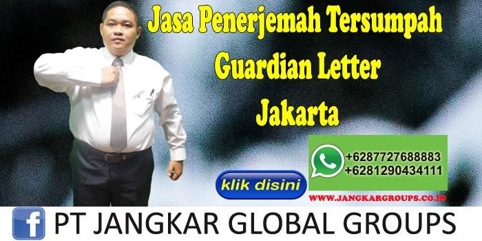 Jasa penerjemah tersumpah guardian letter jakarta