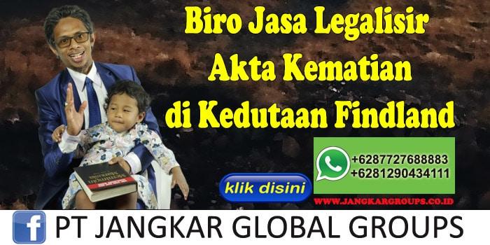 Biro Jasa Legalisir Akte Kematian di Kedutaan Findland