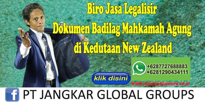 Biro Jasa Legalisir Dokumen Badilag Mahkamah Agung di Kedutaan New Zealand