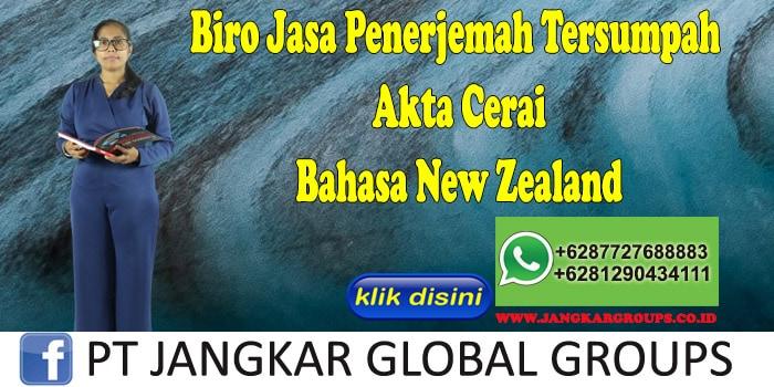 Biro Jasa Penerjemah Tersumpah Akte Cerai Bahasa New Zealand