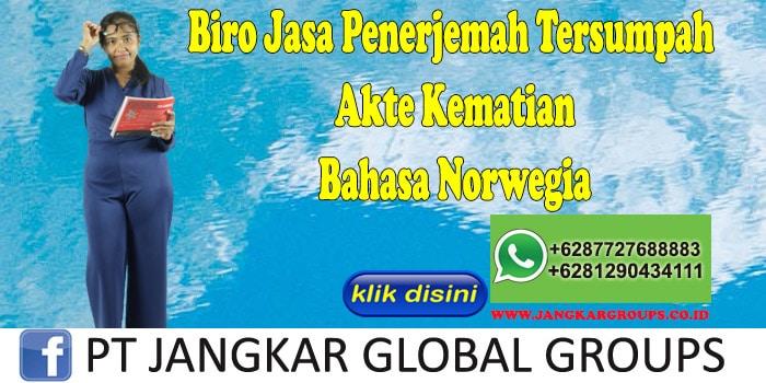 Biro Jasa Penerjemah Tersumpah Akte Kematian Bahasa Norwegia