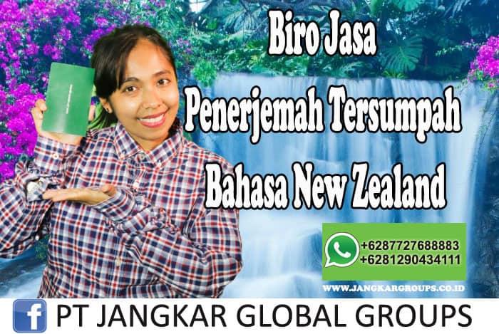 Biro Jasa Penerjemah Tersumpah Bahasa New Zealand