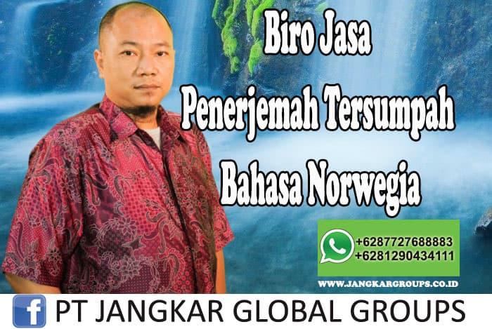 Biro Jasa Penerjemah Tersumpah Bahasa Norwegia