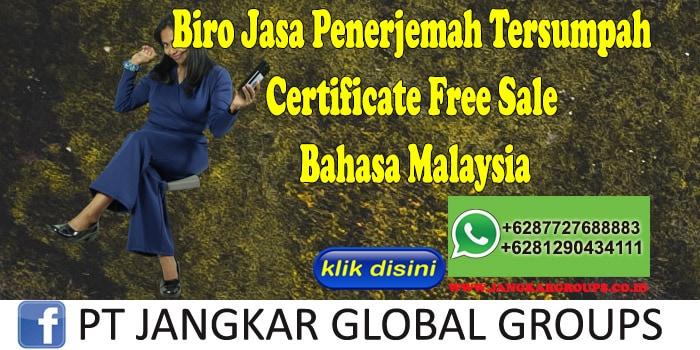 Biro Jasa Penerjemah Tersumpah Certificate Free Sale Bahasa Malaysia