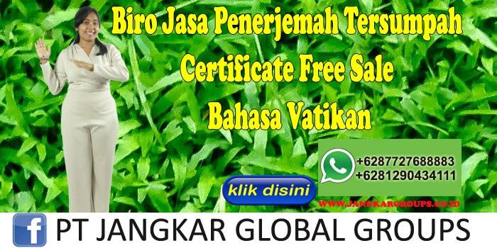 Biro Jasa Penerjemah Tersumpah Certificate Free Sale Bahasa Vatikan