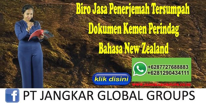 Biro Jasa Penerjemah Tersumpah Dokumen Kemen Perindag Bahasa New Zealand