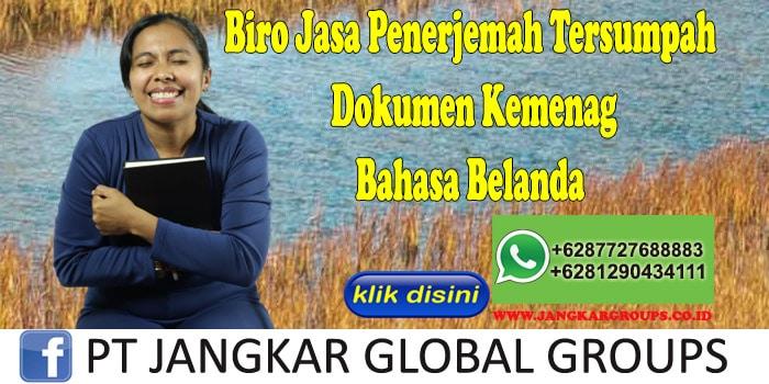 Biro Jasa Penerjemah Tersumpah Dokumen Kemenag Bahasa Belanda