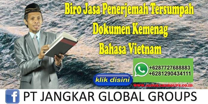 Biro Jasa Penerjemah Tersumpah Dokumen Kemenag Bahasa Vietnam