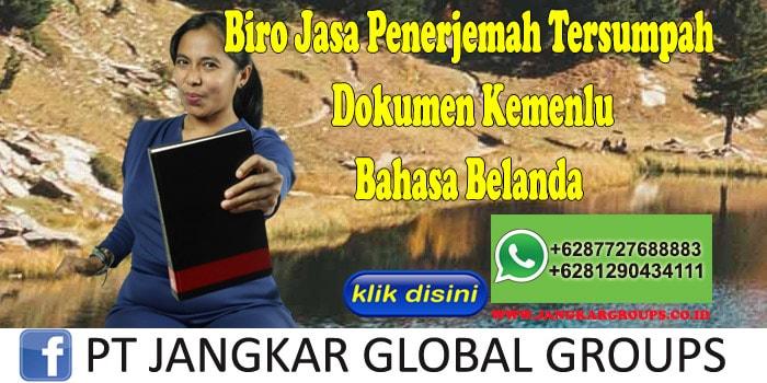 Biro Jasa Penerjemah Tersumpah Dokumen Kemenlu Bahasa Belanda