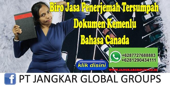 Biro Jasa Penerjemah Tersumpah Dokumen Kemenlu Bahasa Canada