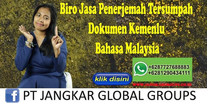 Biro Jasa Penerjemah Tersumpah Dokumen Kemenlu Bahasa Malaysia