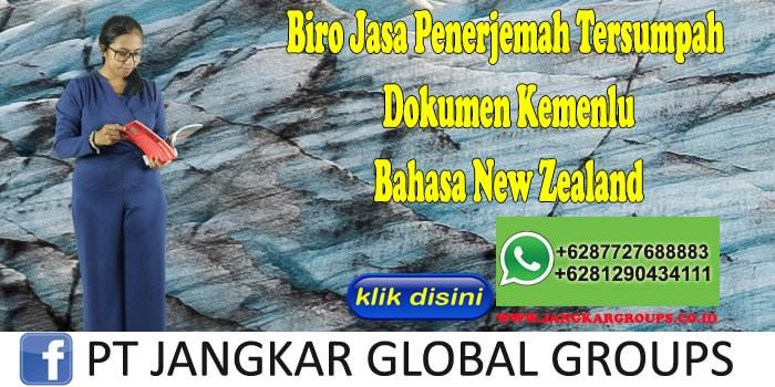 Biro Jasa Penerjemah Tersumpah Dokumen Kemenlu Bahasa New Zealand