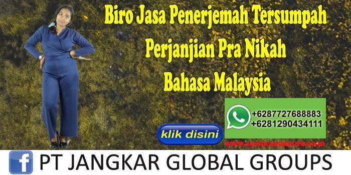 Biro Jasa Penerjemah Tersumpah Perjanjian Pra Nikah Bahasa Malaysia