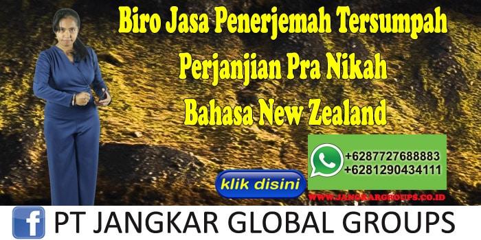 Biro Jasa Penerjemah Tersumpah Perjanjian Pra Nikah Bahasa New Zealand
