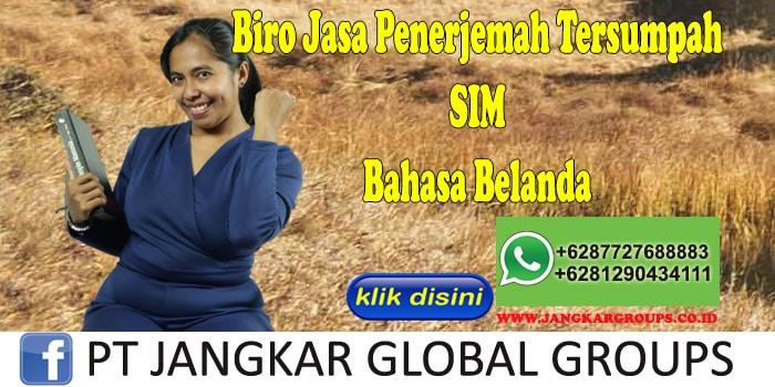 Biro Jasa Penerjemah Tersumpah SIM Bahasa Belanda