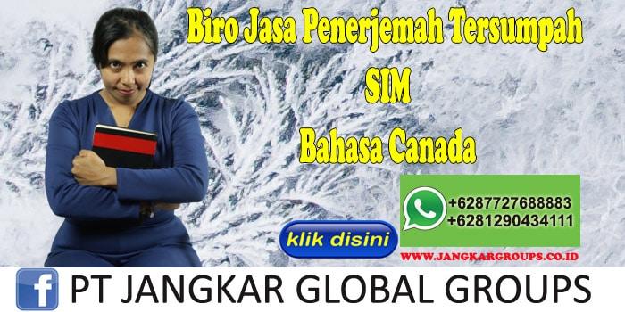 Biro Jasa Penerjemah Tersumpah SIM Bahasa Canada
