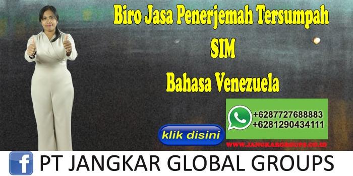Biro Jasa Penerjemah Tersumpah SIM Bahasa Venezuela