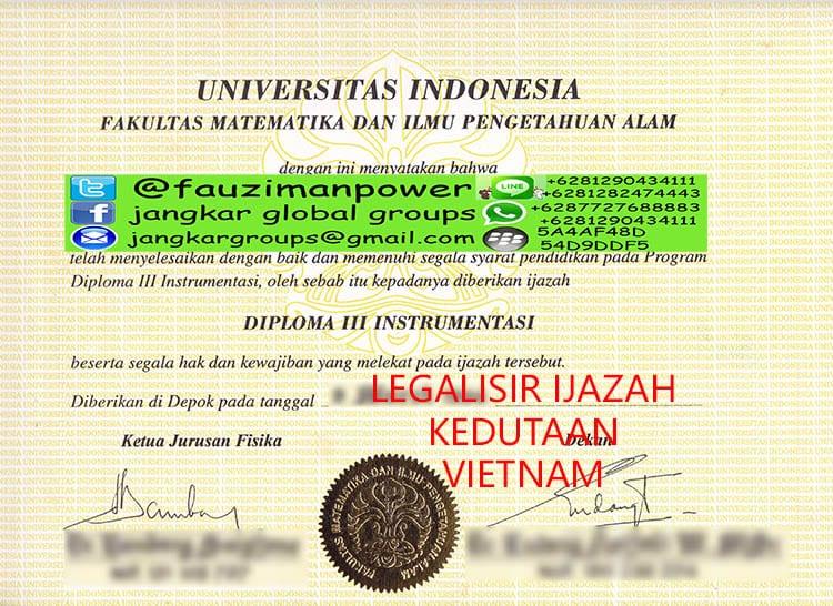LEGALISIR IJAZAH KEDUTAAN VIETNAM