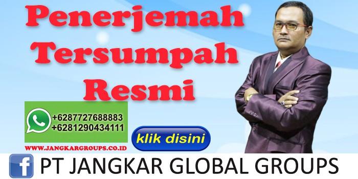 Akhmad Fauzi SH MH Penerjemah Tersumpah Resmi