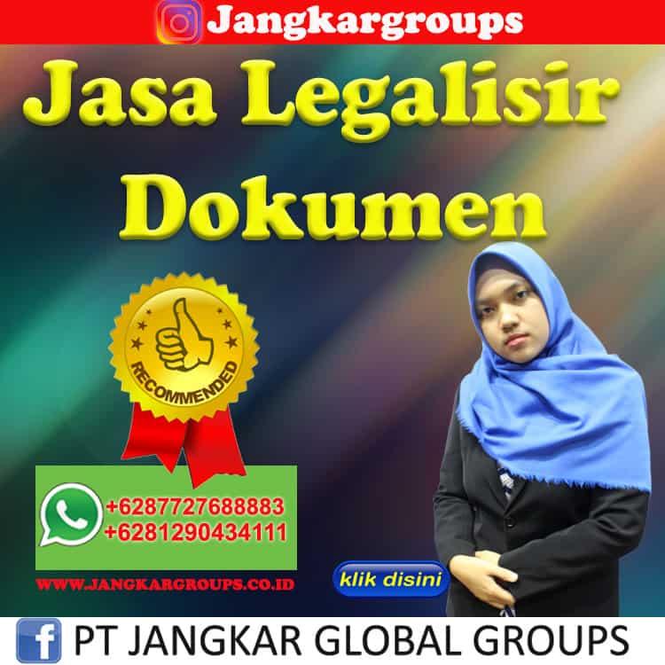 Jasa Legalisir Dokumen