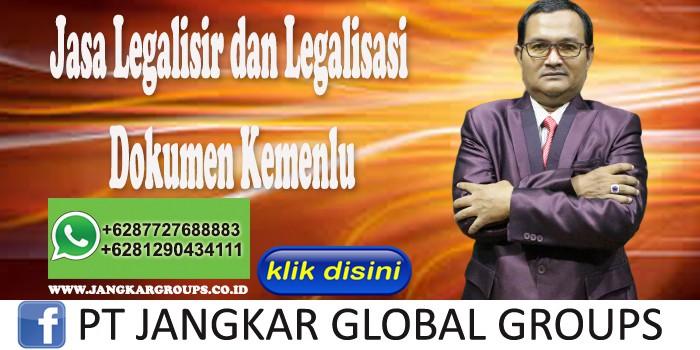 Jasa Legalisir dan Legalisasi Dokumen Kemenlu