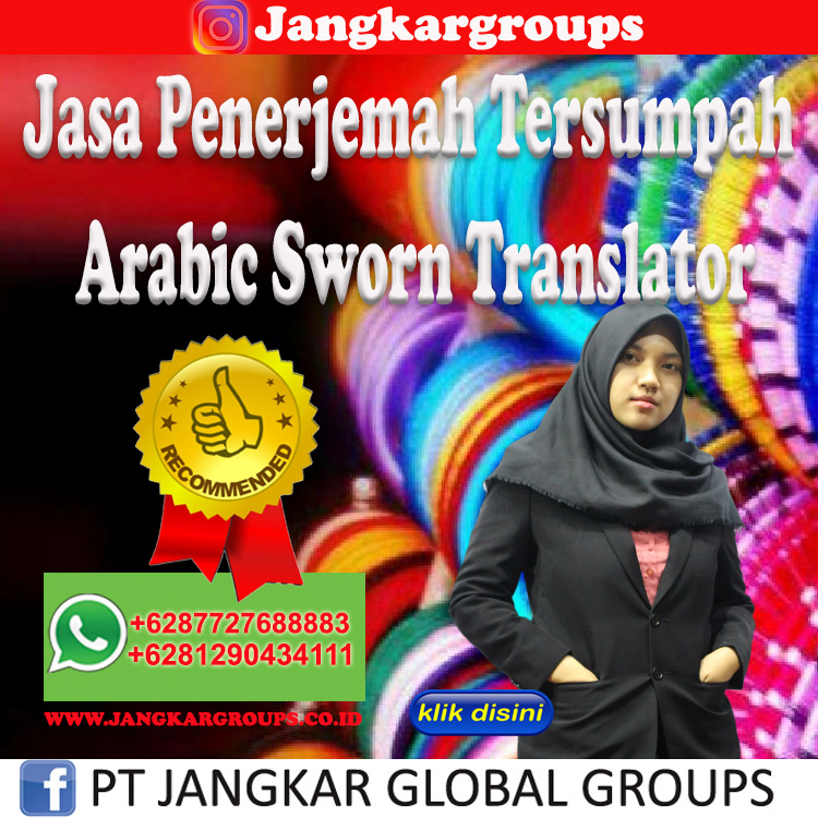 Jasa Penerjemah Tersumpah Arabic Sworn Translator